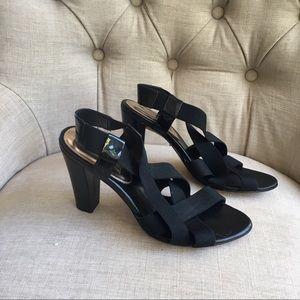 Banana republic black criss cross heels